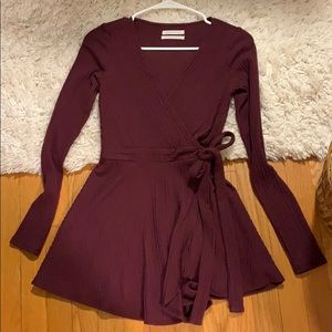 super cute maroon romper! Worn only once or twice